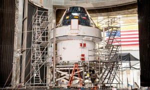 The first Orion test capsule on display