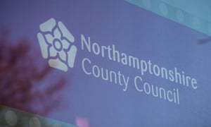 Northamptonshire County Council logo in the window