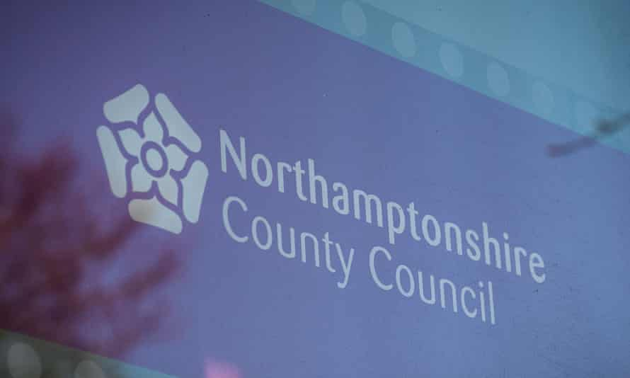 Northamptonshire county council sign