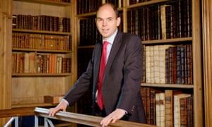Simon Henderson, the headmaster of Eton, in the college library