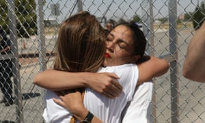 Alexandria Ocasio-Cortez in Tornillo, Texas, this month during a protest against the separation of migrant children from their parents.