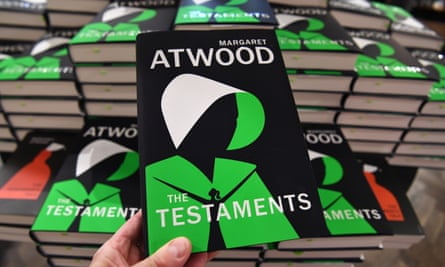 Copies of The Testaments on display in a London branch of Waterstones.