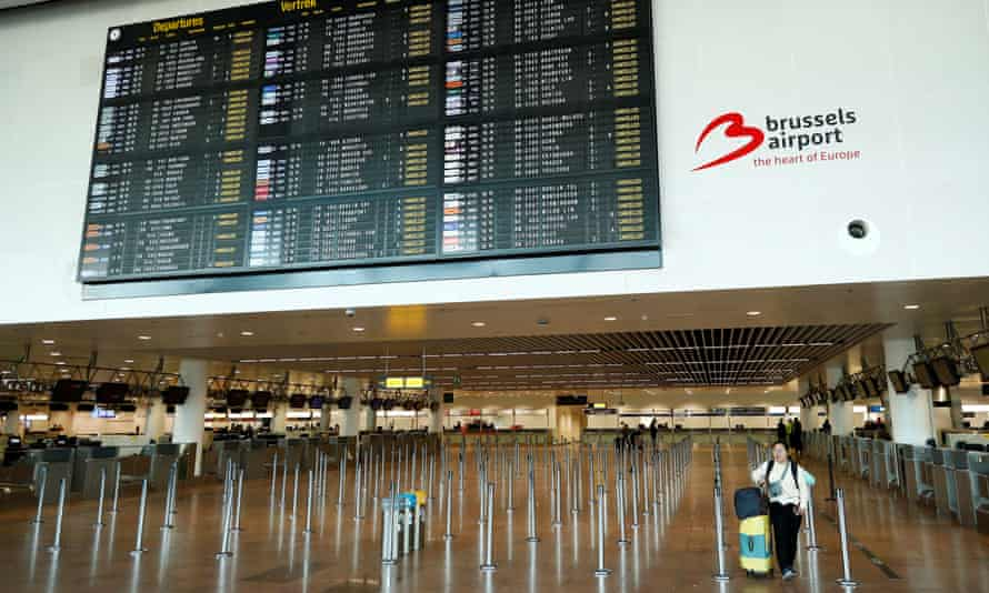 A stranded passenger at Brussels airport