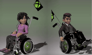 The new Xbox avatars allow players to depict themselves in wheelchairs or with prosthetic limbs