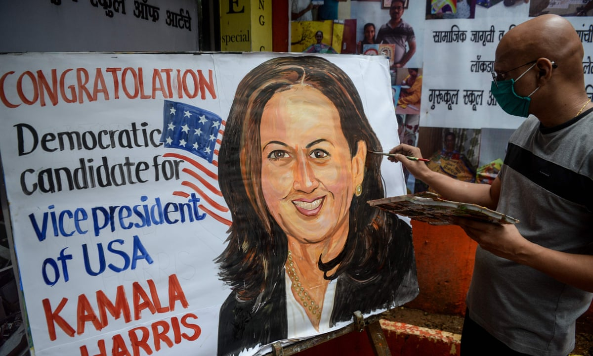 With A Word Of Tamil Kamala Harris Boosts Her Fanbase In India India The Guardian