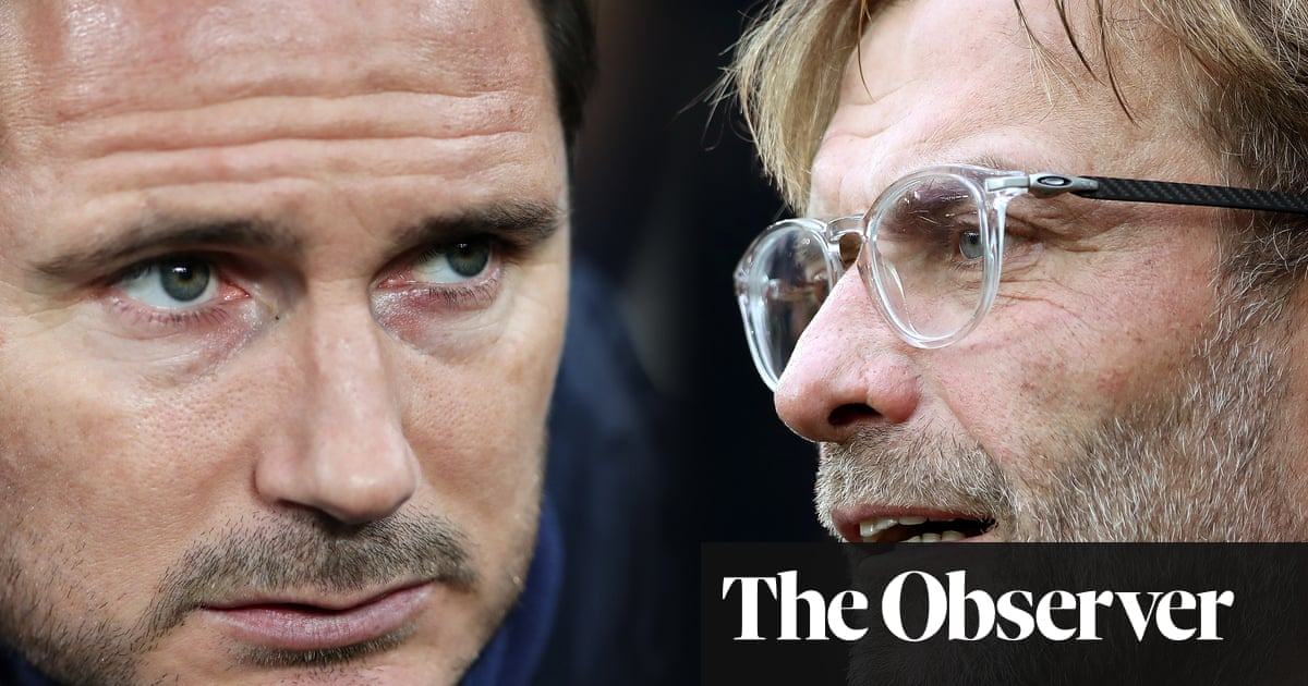 Frank Lampard's blue privilege will go only so far against self-made Klopp   Barney Ronay