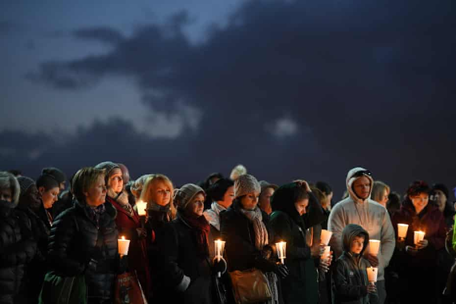 Crowds gather for the vigil is being for Eurydice Dixon who was killed while walking through the park.