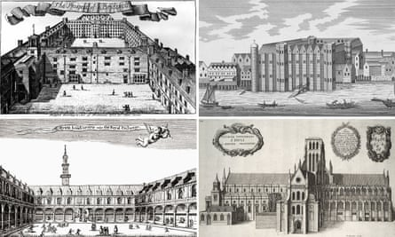 Buildings lost in the Great Fire of London composite i mage