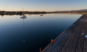 Port Augusta wharf in the evening light.