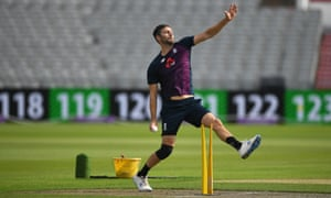 Mark Wood at a nets session in September.