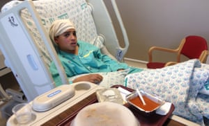 Tried … 13-year-old Ahmad Manasrah in hospital following the 2015 incident featured in the film.