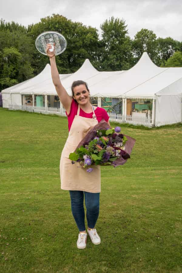 """Sophie Faldo, whose showstopper was titled 'ode to the honey bee' and was described as """"amazing"""" by Prue Leith."""