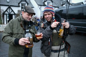Anglers have a traditional drink