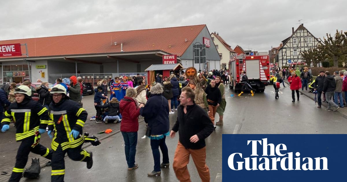 Driver arrested in Germany after car hits carnival crowds