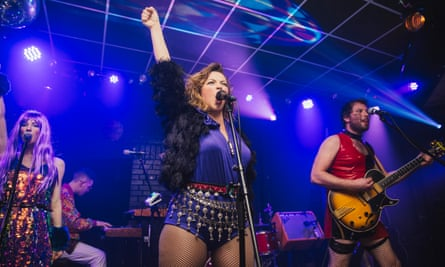 Charlotte Church performing with Late Night Pop Dungeon in Leeds.