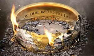 burning wedding ring