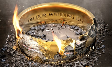 burning wedding ring