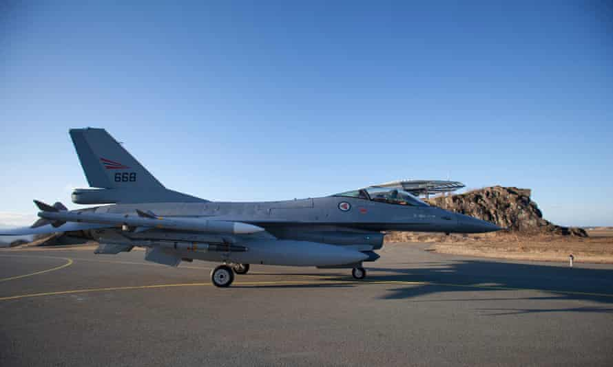 An F-16 pilot with the Norwegian airforce in Bodø, Norway