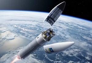 Ariane 5 with its four satellites