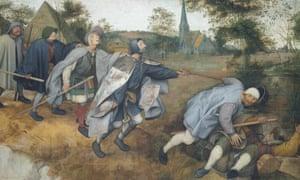 The Blind Leading the Blind, 1568, by Pieter Brueghel the Elder.