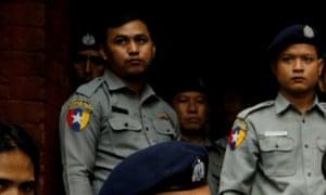 Myanmar police officers.