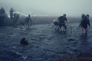 Crossing Maize Beck in the Pennines, Easter 1966
