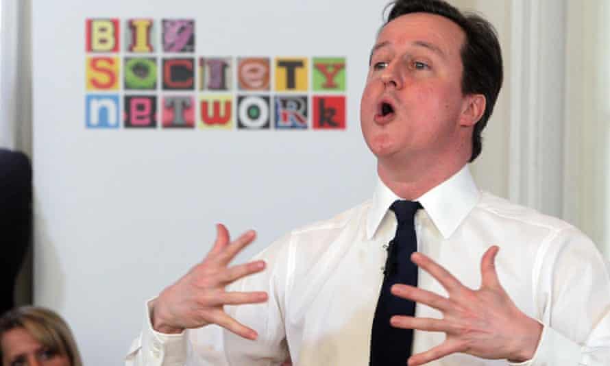 David Cameron makes a speech on the Big Society.