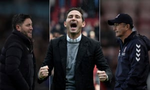 Frank Lampard's Derby have recovered their poise after a mid-season run of defeats but Lee Johnson (left) and Tony Pulis (right) will be hoping they slip up at home to West Brom.