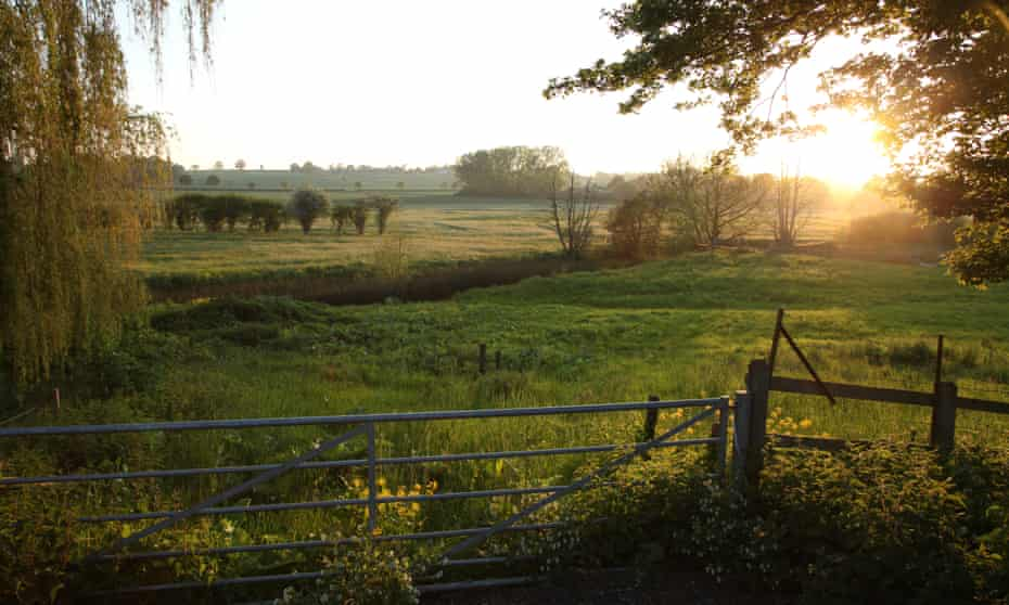 The view from the property at sunset overlooking the River Brett