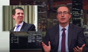 John Oliver: 'On the long list of things Don Jr. is likely to wander into, legal jeopardy is right up there with the women's dressing room and a screen door.'