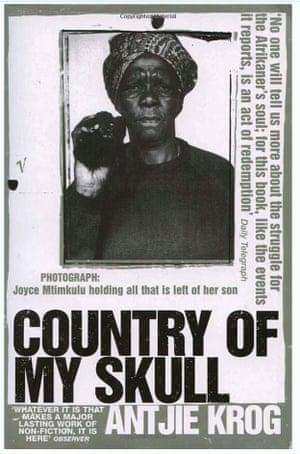 The jacket of Country of my Skull by Antjie Krog