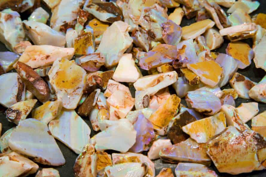 Uncut opals at the Old Timers Opal Mine.