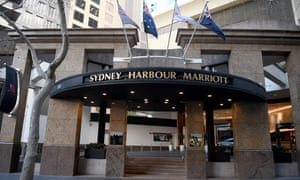 A general view of the Sydney Harbour Marriott Hotel in Sydney, Tuesday, August 18, 2020.