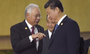 Malaysian prime minister Najib Razak talks with China's President Xi Jinping in this November 2015 image.