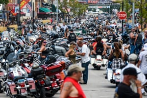 The annual Sturgis motorcycle rally still attracted large crowds despite warnings over the pandemic.