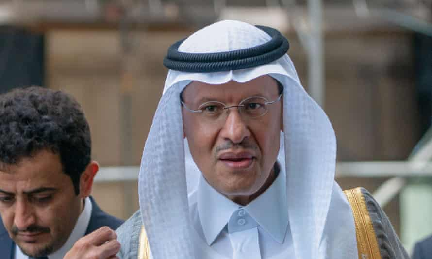 Abdulaziz bin Salman at an Opec meeting