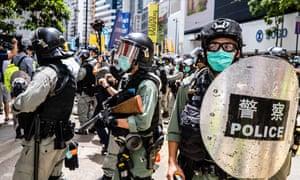 Riot police on Hong Kong