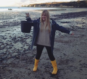 Hollie Newton: 'In the depths of winter, I wear bright yellow Dunlop wellies.'
