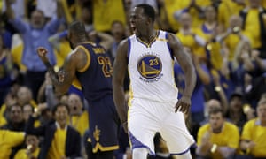 Draymond Green reflects the Warriors' mood for the evening