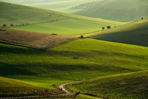 Stretch of the South Downs National Park near Lewes