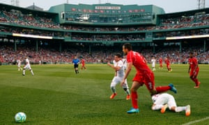 Liverpool playing Roma at Fenway Park in Boston in July 2014. The Champions League winners return there to face Sevilla.