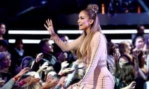 J-Lo at the American Idol show.