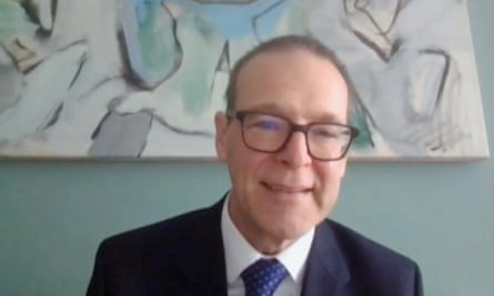 Sir Simon McDonald gives evidence by video link to the foreign affairs select committee