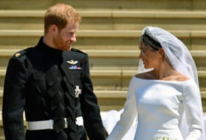 Harry and Meghan on their wedding day