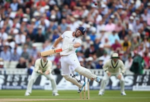 <strong>Day Two</strong><br>First over of the day and Mitchell Johnson sends a vicious, screaming bouncer flying straight at Jonny Bairstow's head, he fends it into the air, straight to Peter Nevill! That was Johnson's 300th Test wicket.
