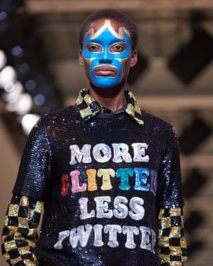 A model during Ashish Gupta's show at London fashion week in 2017.