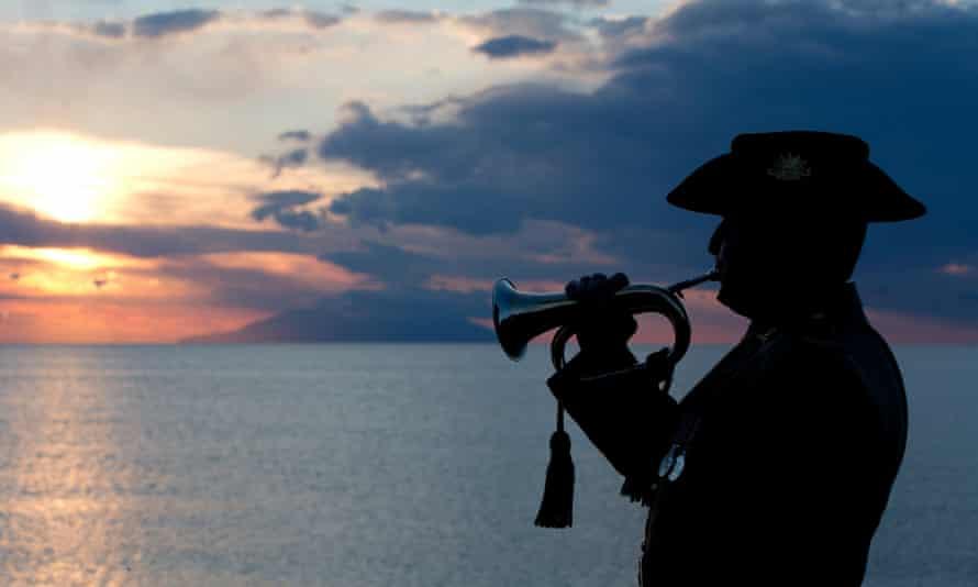 Bugler playing the Last Post at Gallipoli