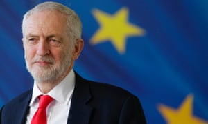 Jeremy Corbyn at the European Commission headquarters in Brussels, March 2019