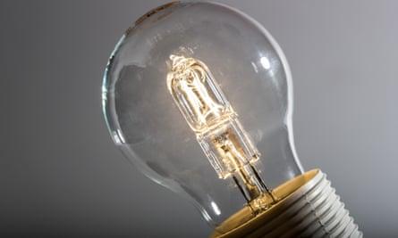 A halogen bulb
