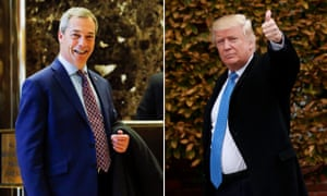 Nigel Farage and Donald Trump: pollsters have labelled their supporters 'authoritatian populists'.